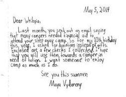 MayaV's Letter